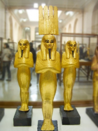 Golden Statues in Egyptian Museum