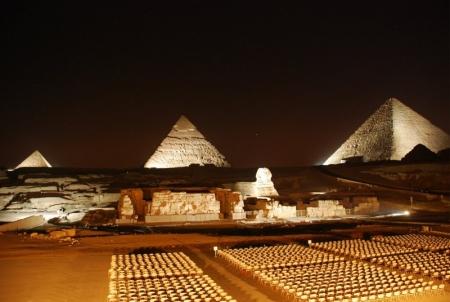 Giza Pyramids by the night