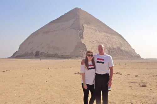 Snofru's Bent Pyramid at Dahshur, Giza