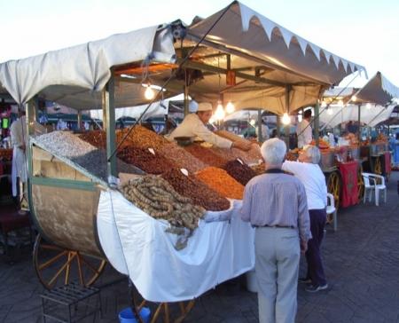 マラケッシュのオリエンタル市場、モロッコ