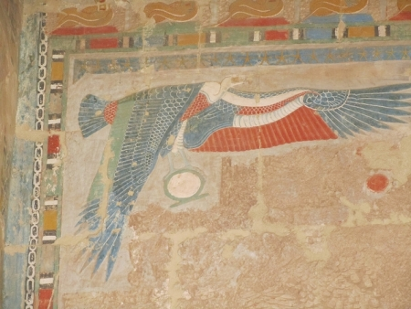 Goddess Nekhbet Painting in Hatshepsut Temple