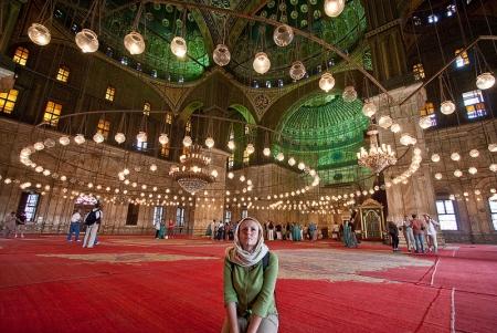 Inside Mohamed Ali Mosque, Old Cairo