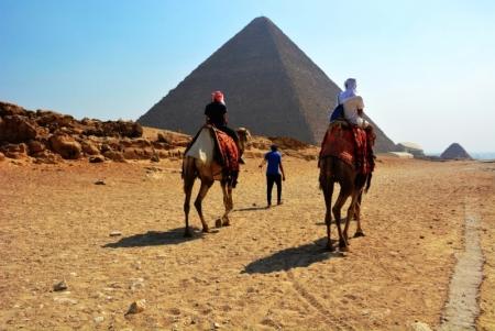 Camel ride at the Pyramids