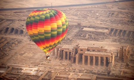 Awesome View for the Hot Air Balloon in Luxor