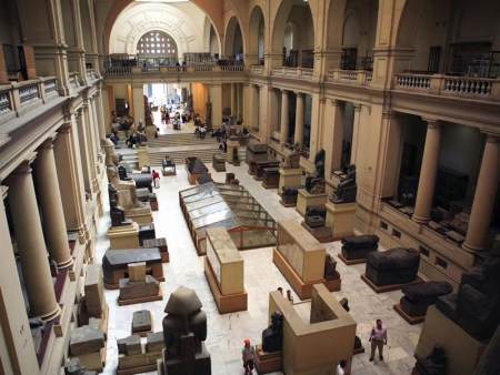 The first floor of Egyptian Museum