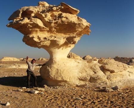 The White Desert of Egypt north of the town of Farafra.
