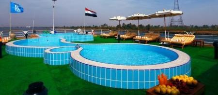 Swimming Pool of Ms Nile Goddess Nile Cruise