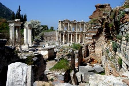 Las ruinas de la antigua ciudad de Éfeso