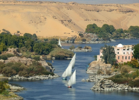 The amazing View of Aswan Nile