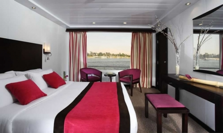 King Bed Cabin at Movenpick Royal Lily Nile Cruise