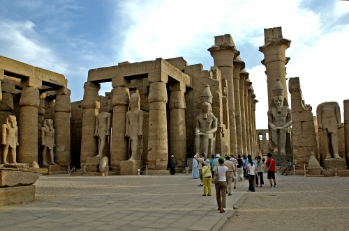 Luxor Temple Open Courtyard