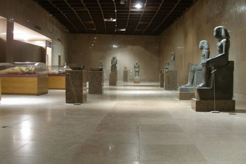 Statues in Nubian Museum