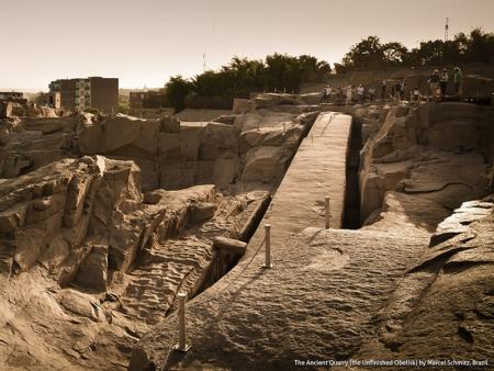 未完成のオベリスク、アスワン、エジプト
