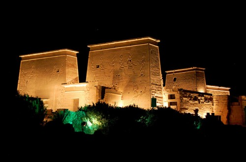 The Philae Temple By Night