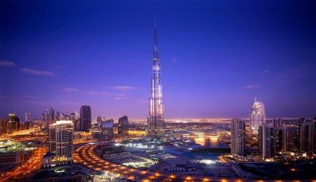 Burj Khalifa di Notte