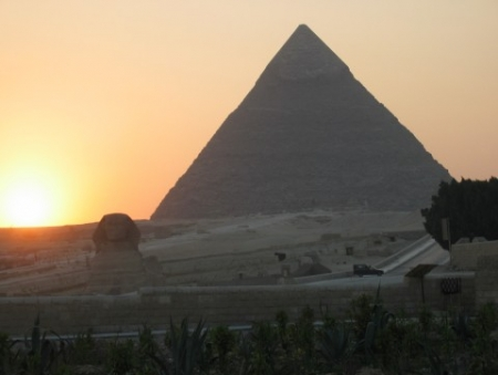 Amazing view of the Pyramid