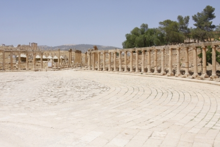 The Oval Palace in Jerash