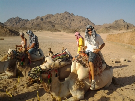 Camel ride on the Bedouin style