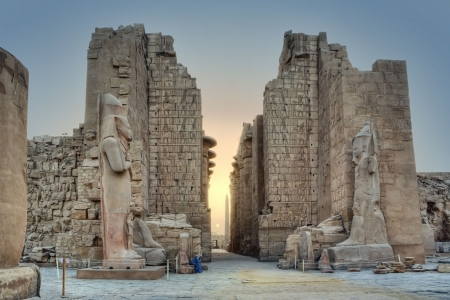 Sun Rise at Karnak Temple