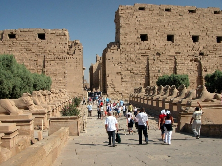 Crowds at Karnak Temple