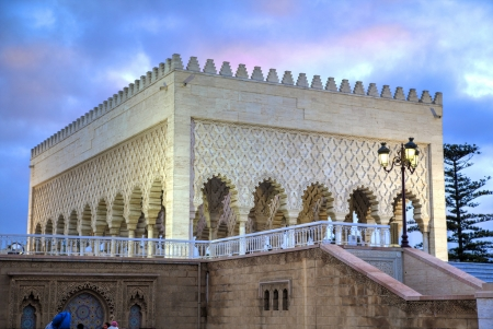 Outside Mohamed V Mausoleum, Rabat