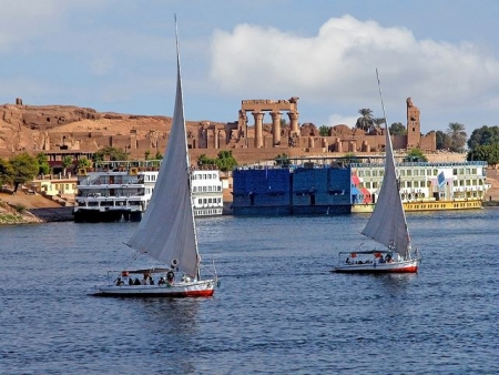 Felucca on The Nile in Aswan City