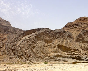 Mega fold in Oman