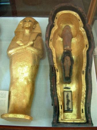 Tutankhamun Grandma's Hair Lock and Shabti