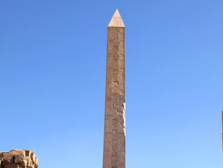 Obelisk of Hatshepsut inside Karnak Temple