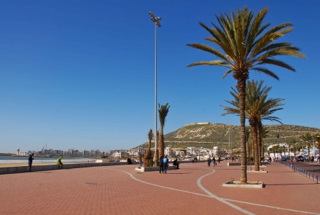 Walking in agadir