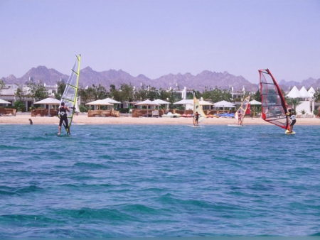 Windsurfing at the Red Sea