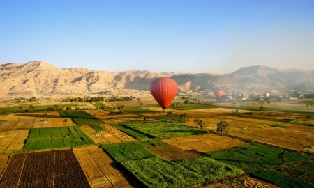 Hot Air Balloon Ride Trip over  Luxor