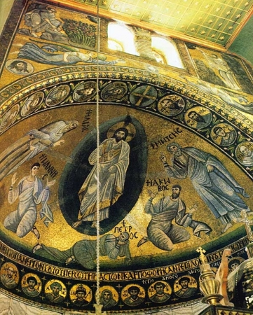 The Mosaic of the Transfiguration in St. Catherine Monastery