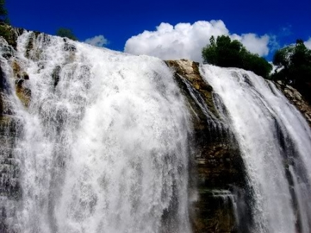Tortum Waterfall in Turkey