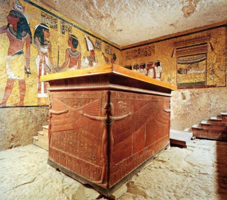 King Tut tomb inside Valley of the Kings