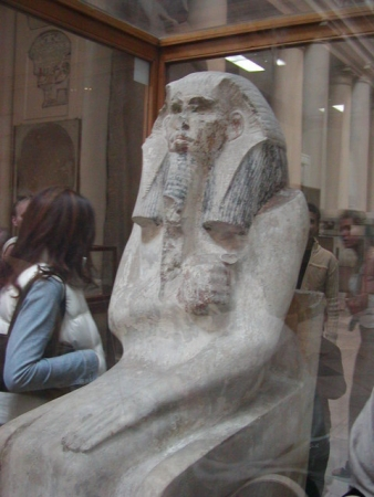 Djoser Statue in the Egyptian Museum