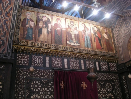 Icons from The Hanging Church in Old Cairo