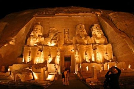 Abu Simbel Temple by Night