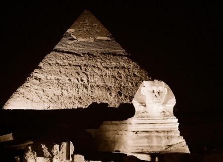 Giza Plateau at Night