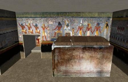 Inside Valley of Kings in Luxor