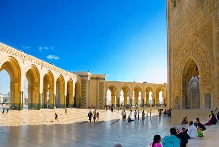 Inside Hassan II Mosque in Casablanca
