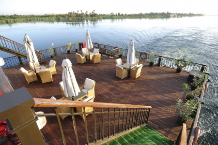 SS Misr Luxury Nile Steamer Cruise Sundeck