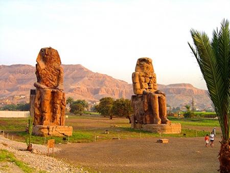 The Colossi of Memnon, Luxor
