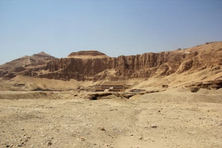 View of Hatshepsut Temple from Asasif Tombs