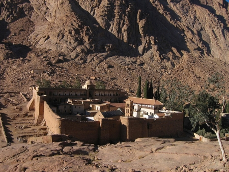 A View of St.Catherine Monastery in Sinai