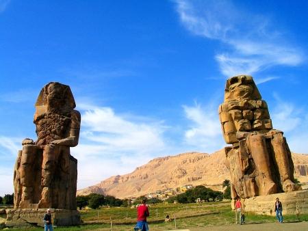 Colossi of Memnon Statue in Luxor