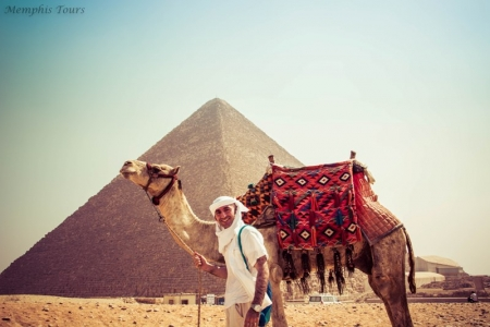 Egypt Pyramids with Camels