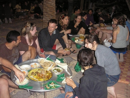Enjoying Dinner with the Bedouins in Sinai