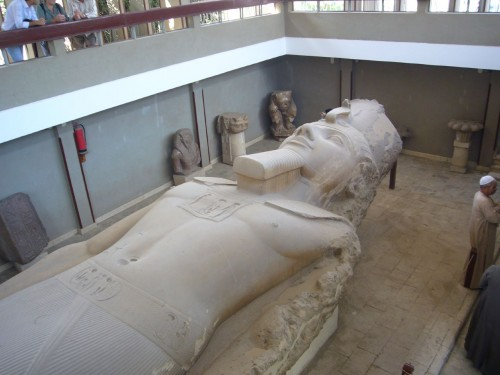 The colossus of Rameses II in the open-air museum.