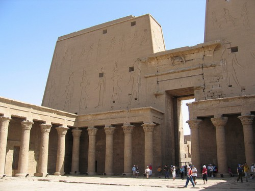 The Open Courtyard of Edfu Temple